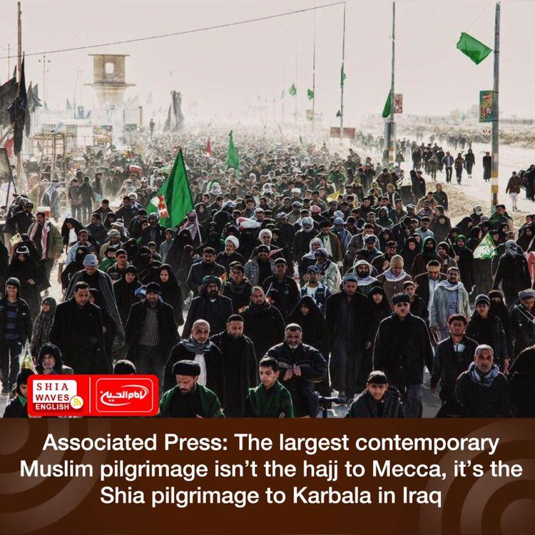 Photo of Associated Press: The largest contemporary Muslim pilgrimage isn't the hajj to Mecca, it's the Shia pilgrimage to Karbala in Iraq