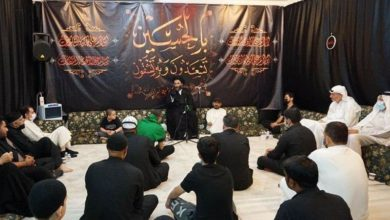 Photo of Mourning ceremonies for Imam Hussein continue during the month of Safar at the house of Grand Ayatollah Shirazi's son in Kuwait