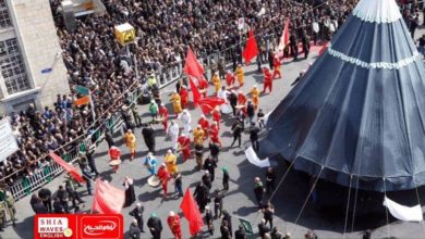 Photo of Pakistani cleric to crowds of mourners: Karbala is a lesson from the history of mankind