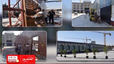 Photo of Temporary grille of Zainabi Hill Site opens to pilgrims near Imam Hussain Holy Shrine