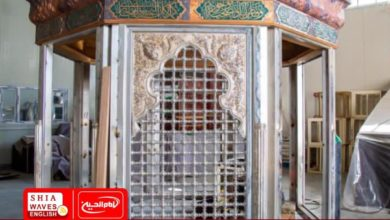 Photo of Start of manufacturing the grille of the Left Hand of al-Abbas in Karbala