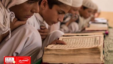 Photo of Elementary school students in Afghanistan study in mosques