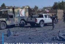 Photo of Three Afghan police killed in an armed attack in Ghazni state