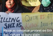 Photo of Hazaras continue protest on 5th day, refuse to bury slain miners despite PM's request