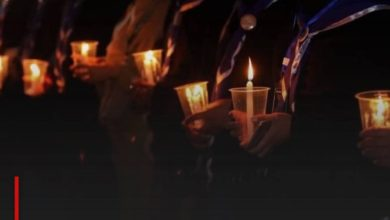 Photo of Hazara Shias commemorate with tears and candles the martyrdom anniversary of Lady Zahraa