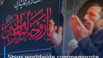 Photo of Shias worldwide commemorate demise anniversary of Lady Umm al-Baneen