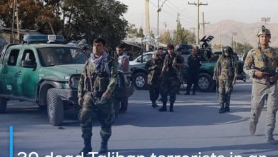 Photo of 30 dead Taliban terrorists in an explosion inside a mosque in northern Afghanistan