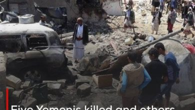 Photo of Five Yemenis killed and others wounded in the Saudi coalition's bombing of Hodeidah