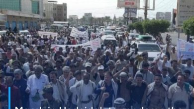 Photo of March in Hodeidah to condemn the seizure of oil derivatives ships by the Saudi coalition