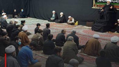 Photo of Grand Ayatollah Shirazi commemorates the martyrdom anniversary of Imam al-Kadhim in his blessed house