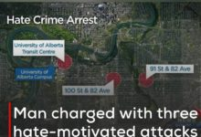 Photo of Man charged with three hate-motivated attacks on women in Edmonton