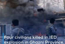 Photo of Four civilians killed in IED explosion in Ghazni Province, eastern Afghanistan