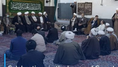 Photo of Celebrations in the house of Grand Ayatollah Shirazi for the blessed month of Sha'ban