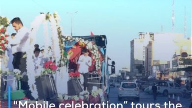 """Photo of """"Mobile celebration"""" tours the streets of Karbala on blessed birth anniversaries of Sha'ban"""