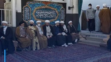 Photo of Joyous celebration in the house of Grand Ayatollah Shirazi in Qom