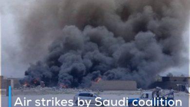 Photo of Air strikes by Saudi coalition warplanes on Saada, al-Jawf and al-Bayda