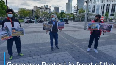 Photo of Germany: Protest in front of the Saudi Consulate to demand the rebuilding of al-Baqi graves