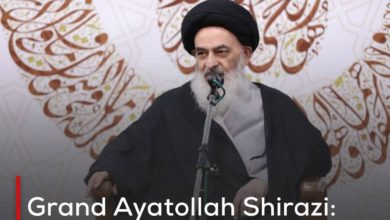 Photo of Grand Ayatollah Shirazi: The world today must know who Imam Ali is