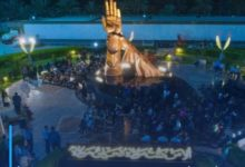Photo of Large monument representing the allegiance of al-Ghadeer in Karbala