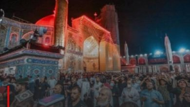 Photo of Believers commemorate the night of the martyrdom anniversary of Imam Ali, peace be upon him, in Najaf