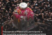 Photo of Thousands of Pakistanis participate in the mourning procession commemorating the martyrdom anniversary of the Commander of the Faithful, peace be upon him