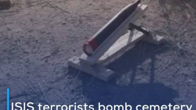 Photo of ISIS terrorists bomb cemetery of Prophet Ismail, peace be upon him, in Diyala