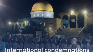 Photo of International condemnations rejecting the storming of Al-Aqsa Mosque