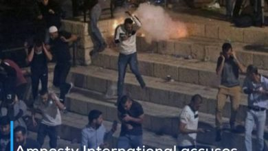Photo of Amnesty International accuses Israel of using brutal force against the Palestinians