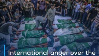 Photo of International anger over the crimes of the Zionist entity against civilians in Gaza