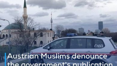 Photo of Austrian Muslims denounce the government's publication of a map of Islam as a threat to their security