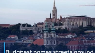Photo of Budapest names streets around Chinese university with names that support Uyghur Muslims