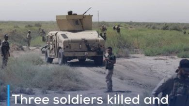 Photo of Three soldiers killed and wounded in IED explosion on an army patrol in Diyala