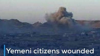 Photo of Yemeni citizens wounded by Saudi-led coalition bombing on Saada