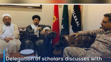 Photo of Delegation of scholars discusses with the military official of Karachi the preparation for the revival of the month of Muharram