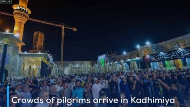 Photo of Crowds of pilgrims arrive in Kadhimiya to commemorate the martyrdom anniversary of Imam al-Jawad, peace be upon him