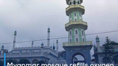 Photo of Myanmar mosque refills oxygen tanks for community, regardless of religion