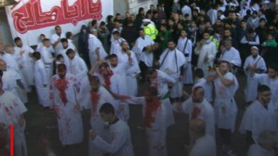 Photo of Thousands of Ahlulbayt lovers participate in self-flagellation Husseini processions