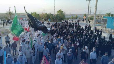 Photo of Iranian pilgrims continue their march towards Karbala