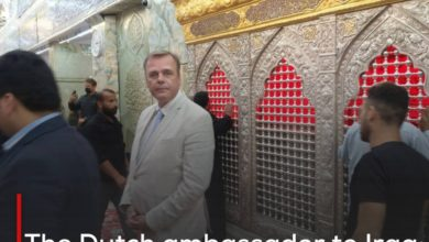 Photo of The Dutch ambassador to Iraq: Imam Hussain is the symbol of freedom in the world