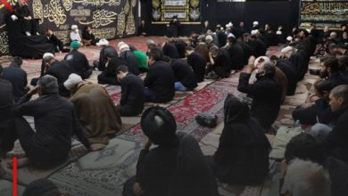Photo of Sadness on the day of Ashura hangs over the house of the Shirazi religious authority in Qom