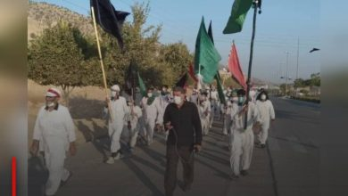Photo of Iranian procession arrives in Khuzestan on its way to Karbala to commemorate Arbaeen