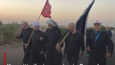 Photo of Kuwaiti pilgrims arrive in Basra by air to participate in the walk towards Karbala to commemorate Arbaeen