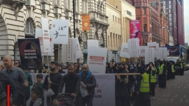 Photo of Britain's largest city hosts a mass march in honor of Imam Hussein, peace be upon him