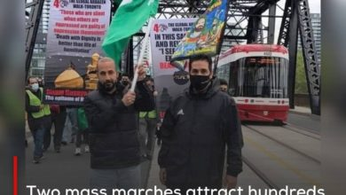 Photo of Two mass marches attract hundreds in Britain and Canada on the Arbaeen anniversary of Imam Hussein, peace be upon him