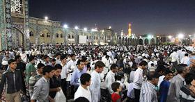 تصویر حرم مطهر رضوی در ماه مبارک رمضان
