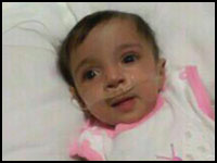 تصویر شهادت نوزاد یازده ماهه بحرینی براثر گازهای اشک آور