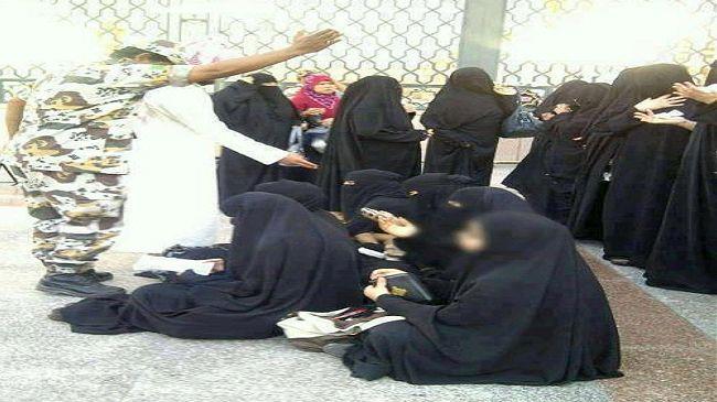 تصویر حمله به زنان شیعه در بقیع