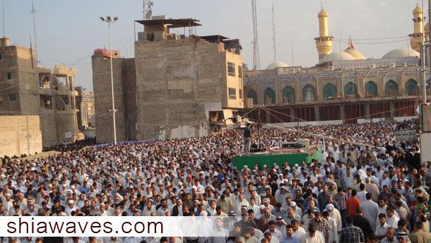 تصویر تجمع میلیونی در عرفه و نماز عید قربان کربلا+عکس