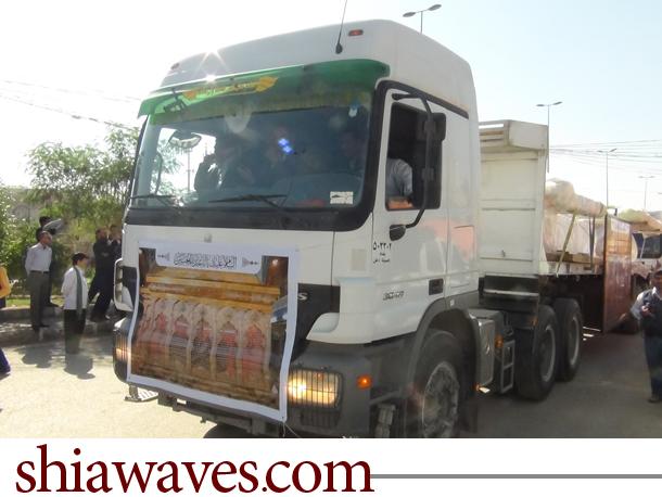 تصویر گزارش تصویری از ورود ضریح امام حسین علیه السلام به کربلای معلی