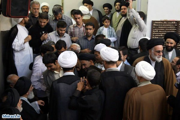 تصویر بیت مرجعیت در نور و سرور عید الله الاکبر غدیر خم +تصاویر